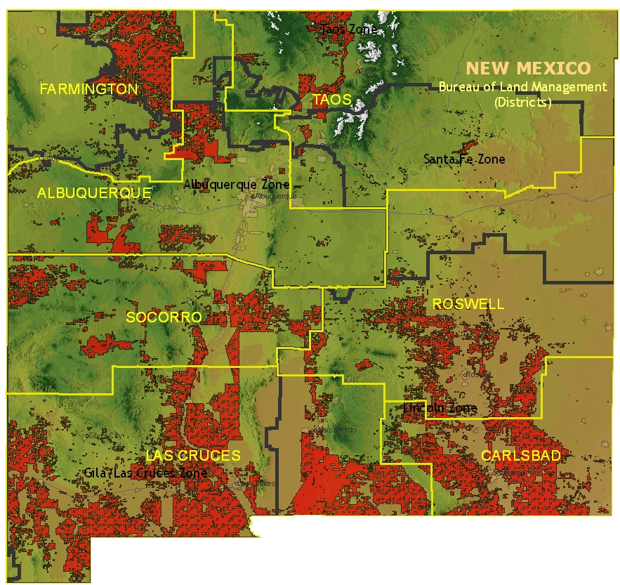 Maps Land New Mexico Blm