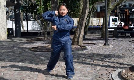La alumna Anabel Tepoz compitió en la Universiada con judo