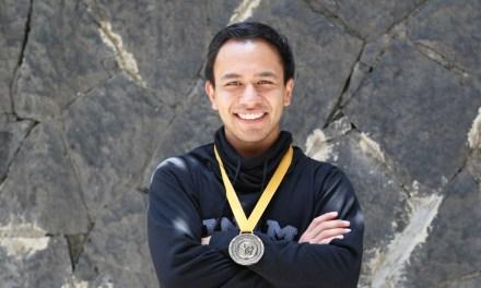 Job Romero, campeón nacional en gimnasia aeróbica