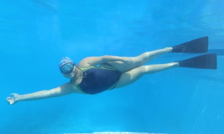 Daniela Fortuna, primer lugar nacional en nado con aletas