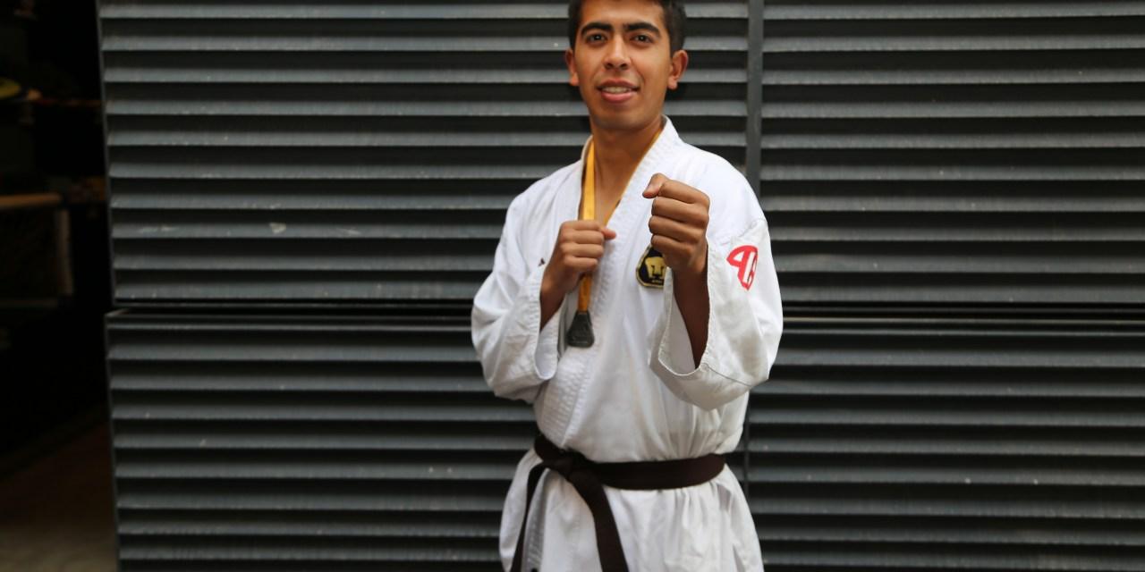 Adolfo Pineda, plata en kumite y bronce en kata