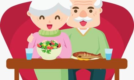 Una buena nutrición =  adultos mayores sanos
