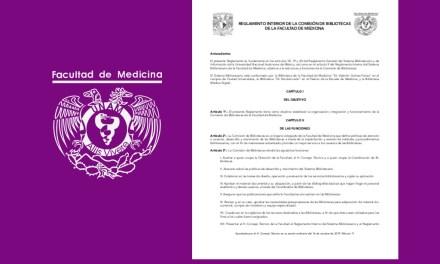 Reglamento Interior de la Comisión de Bibliotecas de la Facultad de Medicina
