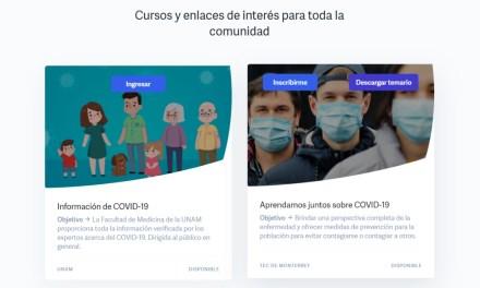 La UNAM, el Tec de Monterrey la Fundación BBVA unen esfuerzos para capacitar sobre COVID-19