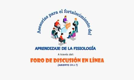 """Entra y participa en el """"Foro de Discusión en Línea"""" del Departamento de Fisiología"""