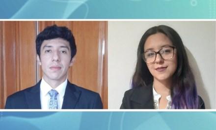 Eduardo Velázquez y Marlen Gómez se titulan en línea como científicos forenses