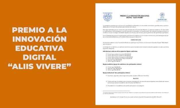 """PREMIO A LA INNOVACIÓN EDUCATIVA DIGITAL """"ALIIS VIVERE"""""""