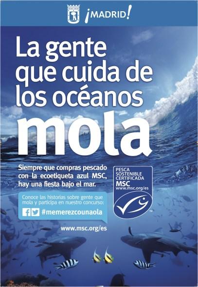 Cartel Exterior oceanos Mola MSC