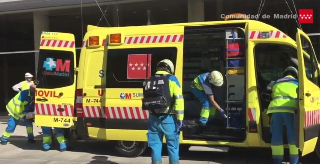 Un trabajador resulta herido grave al caer desde 4 metros de altura en San Blas-Canillejas