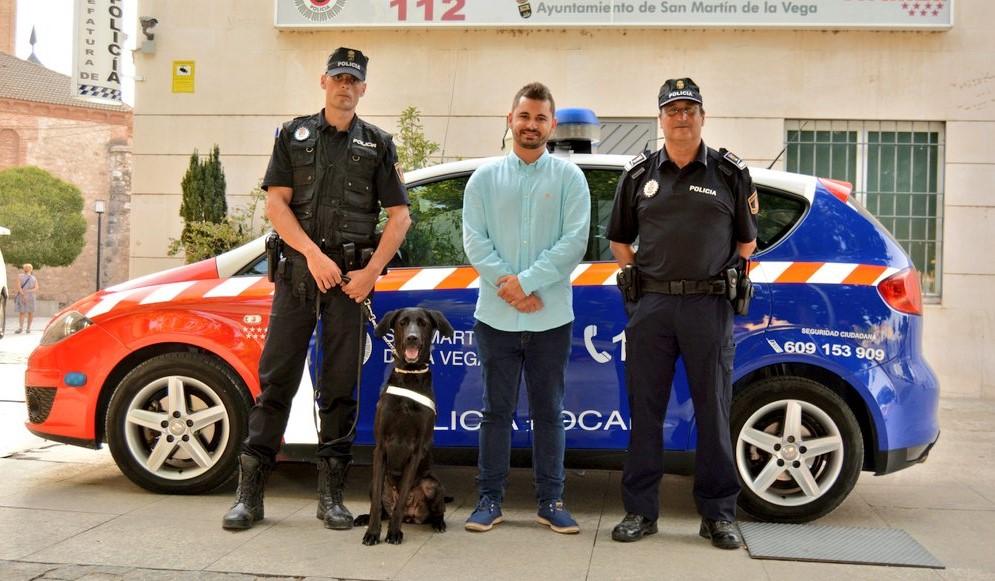 La Policía Local de San Martín de la Vega recupera la Unidad Canina