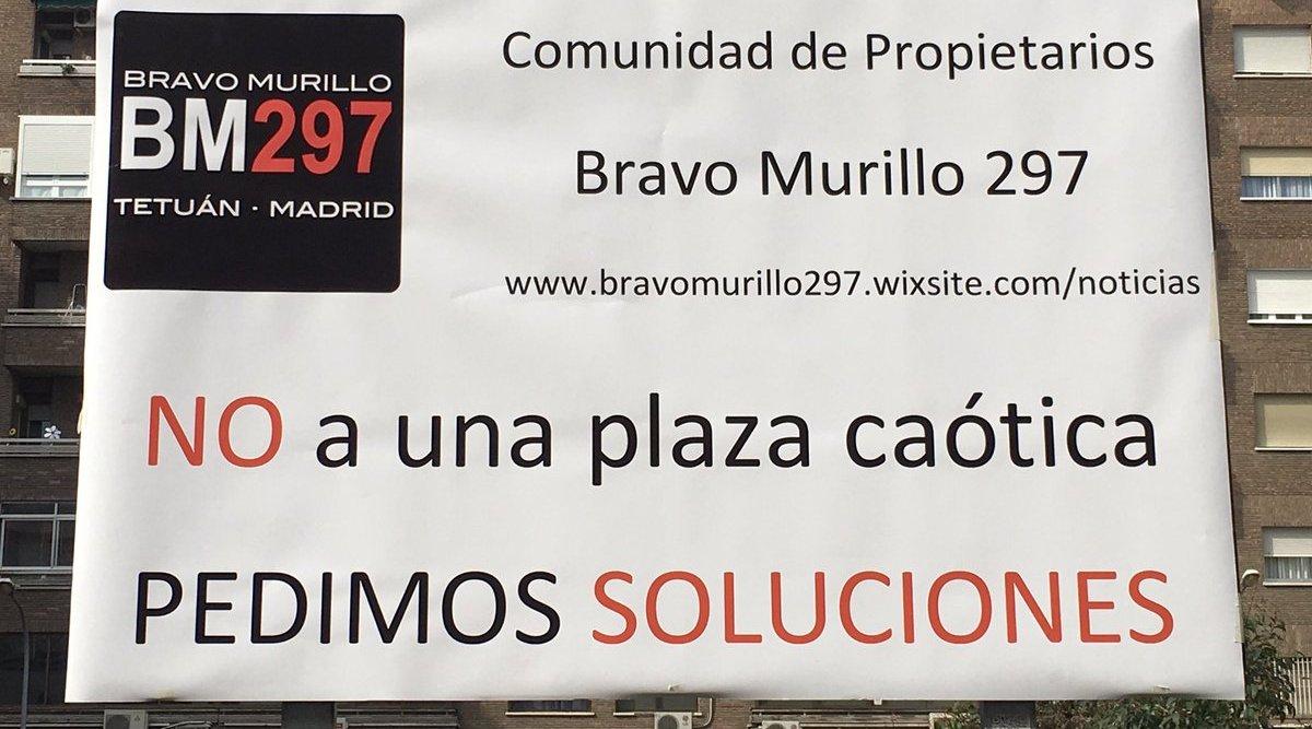 Los vecinos de Bravo Murillo 297 se manifestarán este jueves por una solución a su plaza