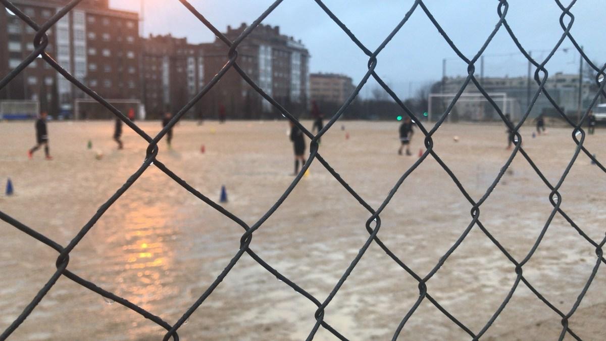 Un campo de arena