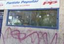Nuevo ataque a la sede del Partido Popular del distrito de Latina