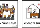 Cs Vicálvaro reclama la instalación de pictogramas en los edificios públicos como se aprobó en 2017