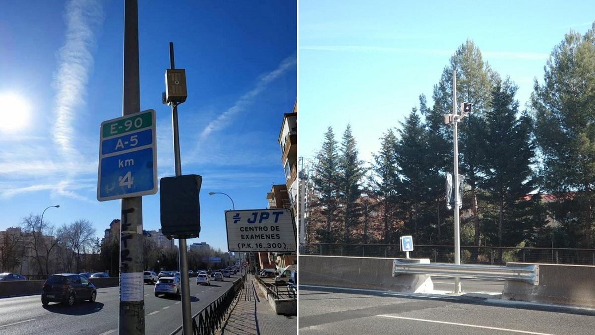 El Ayuntamiento de Madrid instala el nuevo radar de tramo en la A-5
