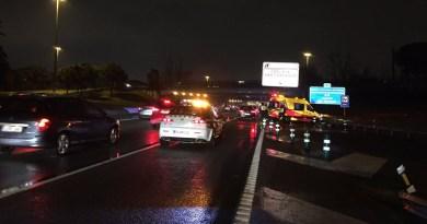 Una motorista de 38 años herida grave tras colisionar con un turismo en San Blas-Canillejas
