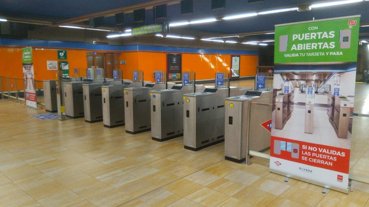Las estaciones de Metro de Ciudad de los Ángeles y de Hortaleza se suman al proyecto de 'tornos abiertos'