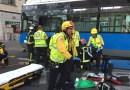 Una joven herida grave tras ser atropellada por un autobús de la EMT en la calle Príncipe de Vergara