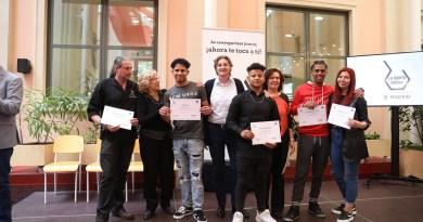 Las dos primeras promociones de 'La Quinta Cocina' de Madrid reciben sus diplomas en hostelería