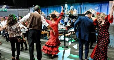 Música en directo, sevillanas, pescaíto frito, jamón… Madrid celebra dos días de Feria de Abril