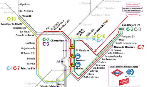 Mapa Metro Y Cercanias Madrid 2019.Plano De Metro Cercanias Madrid