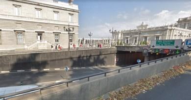 El túnel de la calle Bailén permanecerá cortado un año por las obras de Plaza de España
