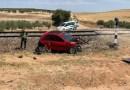 Un tren de la línea Madrid-Zafra arrolla a un coche y deja heridos a un hombre y a una niña