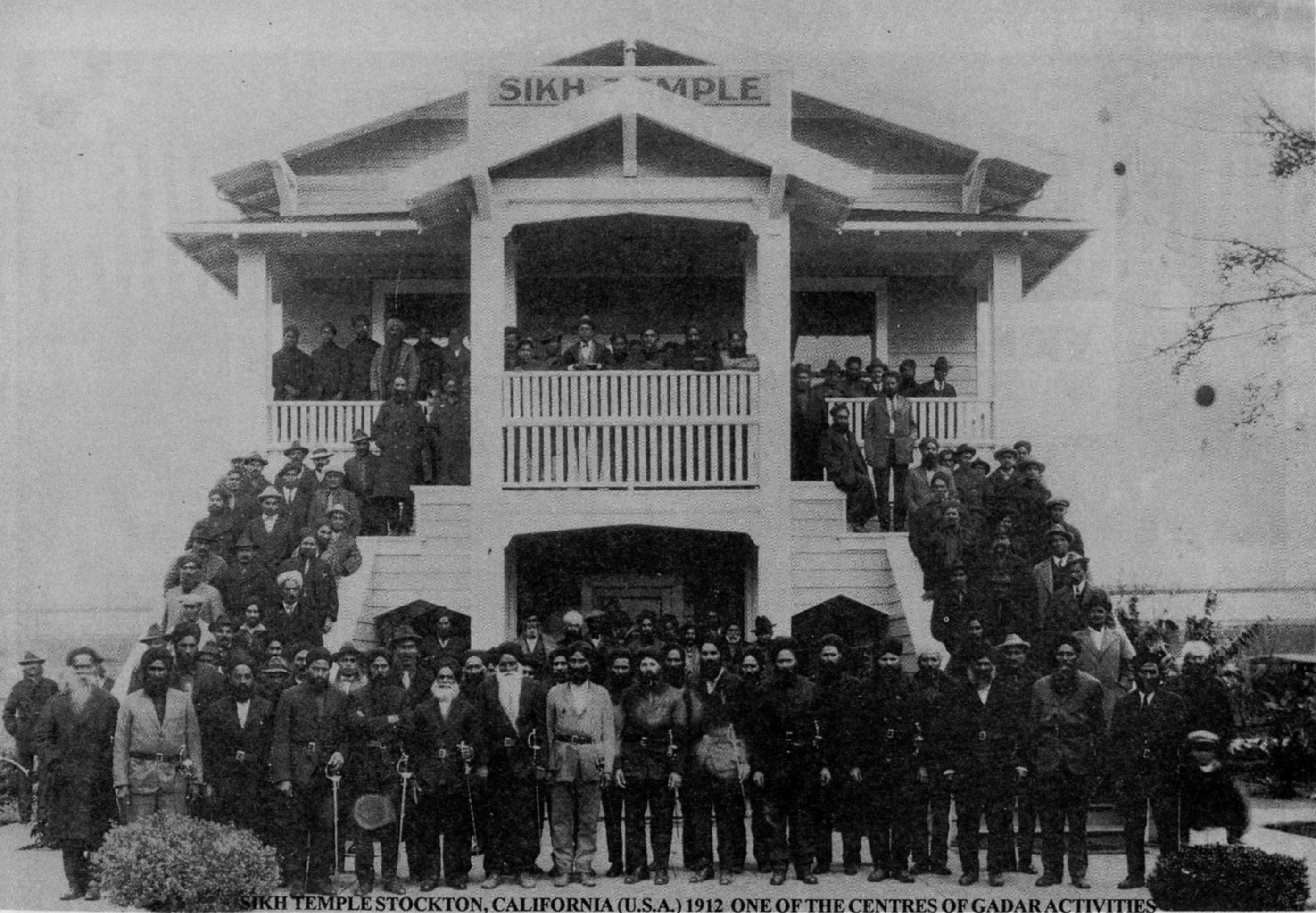 The Sikh Temple in Stockton, California, 1912 (photo: gadar.homestead.com)