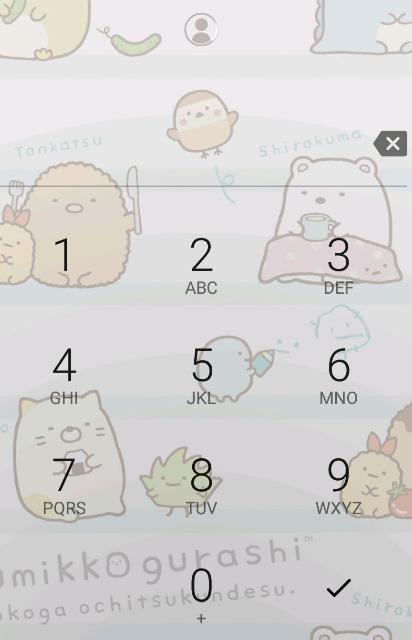 PIN入力画面。顔認証用のアイコンが数字キーの上にある。