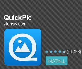 Android無料アプリ「QuickPic」で見られたくない画像を隠せ!
