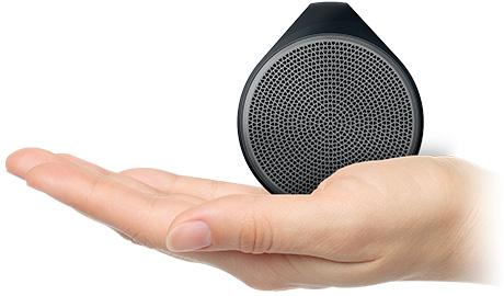 手のひらサイズのコンパクトなスピーカー「X100ワイヤレススピーカー」