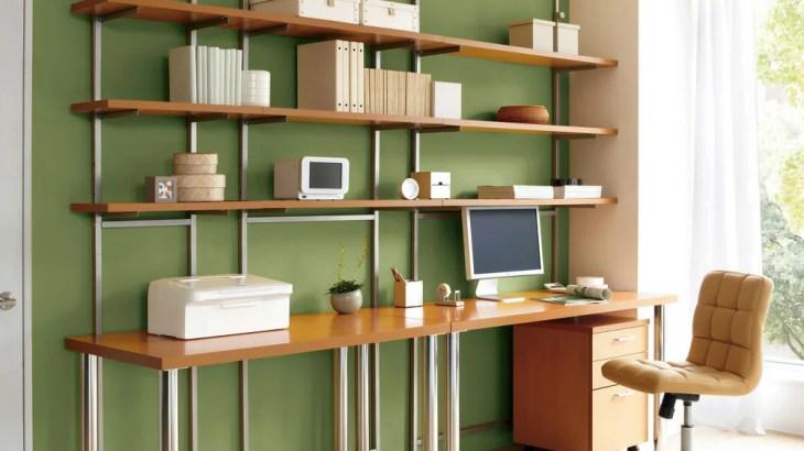 賃貸に最適、デスク上、テレビ上、ランドリーなどデッドスペースを有効活用できる突っ張り式ラック