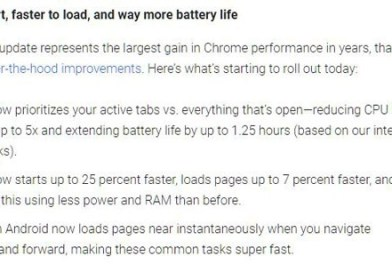 Google Chrome official update reduces CPU usage by up to 5 times