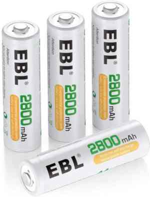 EBL AA Rechargeable Batteries .