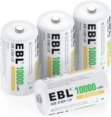 EBL D Rechargeable Batteries