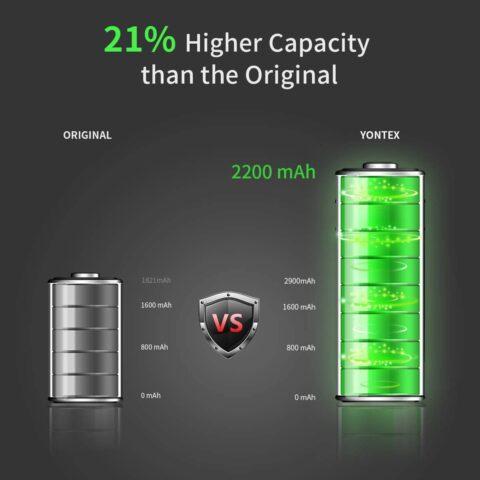 YONTEX 2200mAh replacement battery
