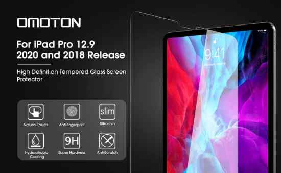 OMOTON iPad Pro 12.9 screen protector/screen guard