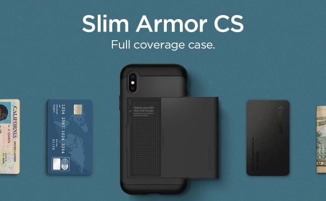 Spigen iPhone X wallet case/cover