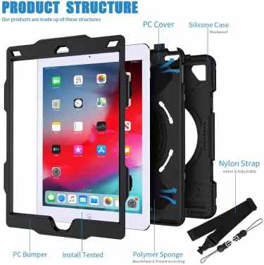 SUPFIVES STOCK iPad Air 2 360 Cover