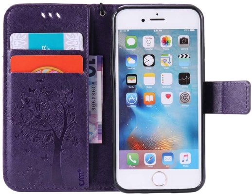 C-Super Mall iPhone SE 2016 Wallet Case