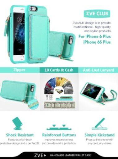 ZVE iPhone 6 Plus Wallet Case/Cover