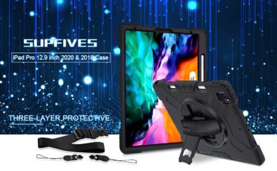 SUPFIVES 2020&2018 iPad Pro 12.9 360 Case