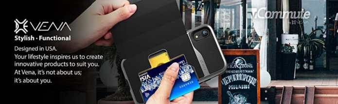 Vena iPhone XR Wallet Case/Cover