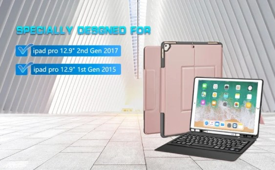Sounwill for iPad Pro 12.9 2017 Keyboard Case