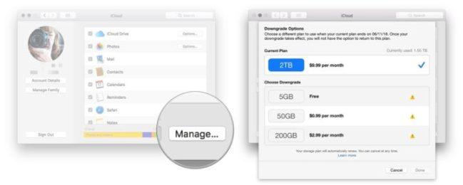 Buy more storage on Mac