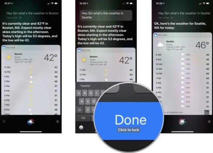edit a Siri question or command
