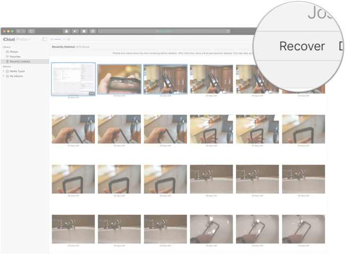 recover old photos and videos from Photos on iCloud.com