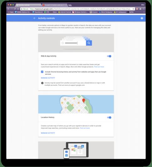 'My Activity' in Google