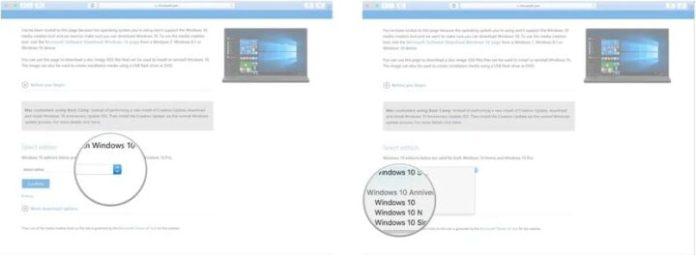 Install Windows 10 on Mac through Boot Camp
