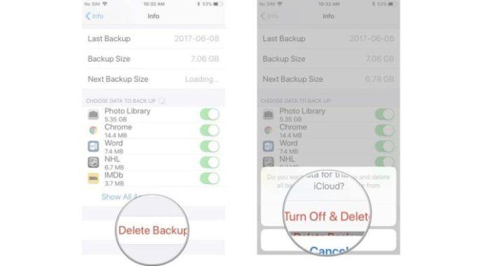 delete iCloud backups on your iPhone or iPad